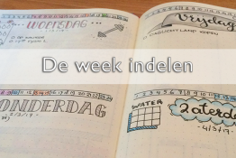 de week indelen